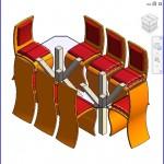 Familias para Revit | 56 Varios | 0253 Mesa de comedor Sillas w.rfa