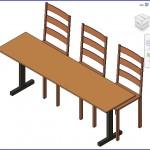 Familias para Revit | 56 Varios | 0290 Dinamica mesa y sillas.rfa