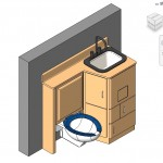 Familias para Revit | 56 Varios | 0550 Modular unidad de la cabecera para lavamanos.rfa
