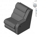 Familias para Revit | 56 Varios | 0703 Derecho reclinable Coaster sofa seccional.rfa